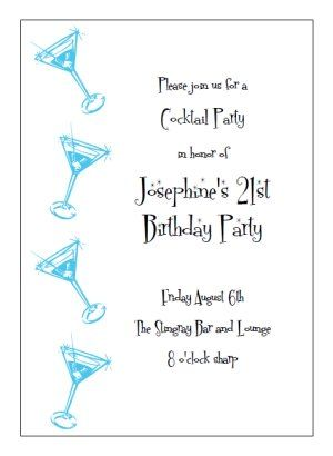 Printable Cocktail Party Invitation Templates Print And Make Your