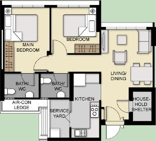 Typical Floor Plan 3 Room Hdb House Design Kitchen Floor Plans Layout Design