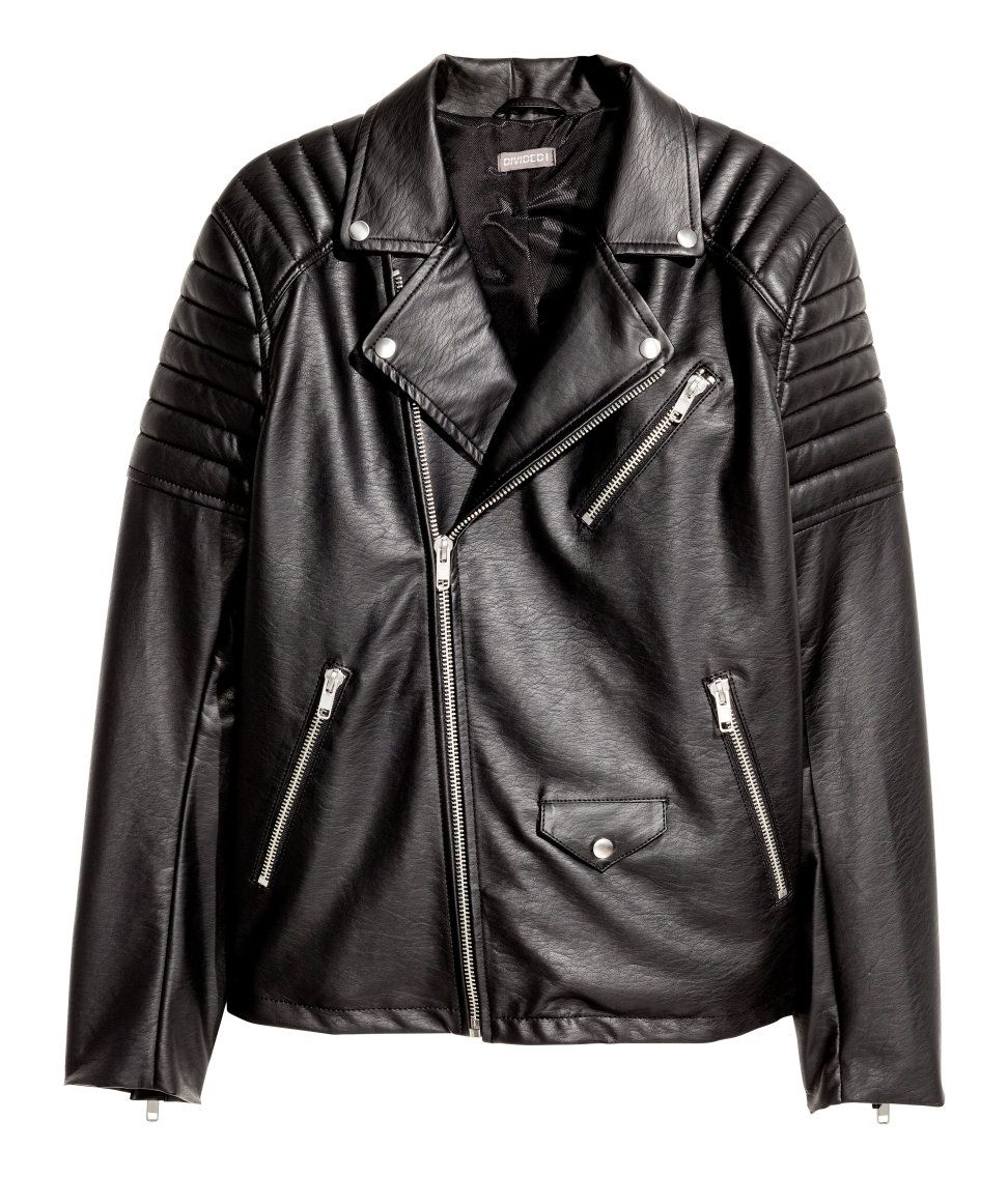 295d470c2d51 Biker Jacket | H&M Divided Guys | H&M MAN DIVIDED | Jackets, Leather ...
