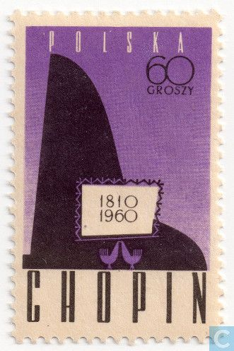 Poland [POL] - Stylised piano 1960
