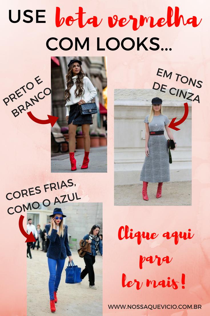 203befc18885d LOOKS DE INVERNO  COMO USAR BOTA VERMELHA   Dicas de Moda Feminina ...