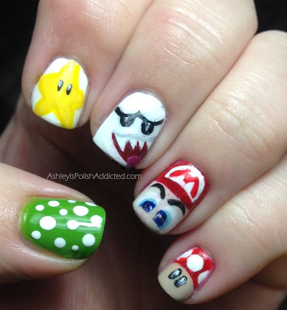 Japanese Nail Art Theme Week featuring Super Mario Bros.! | MY ...