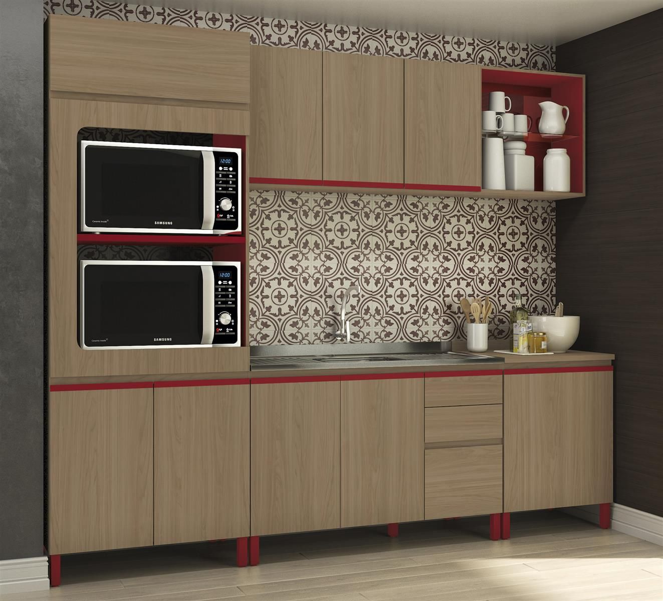 Cozinha Modulada Completa New Urban Kappesberg Ideias Para A