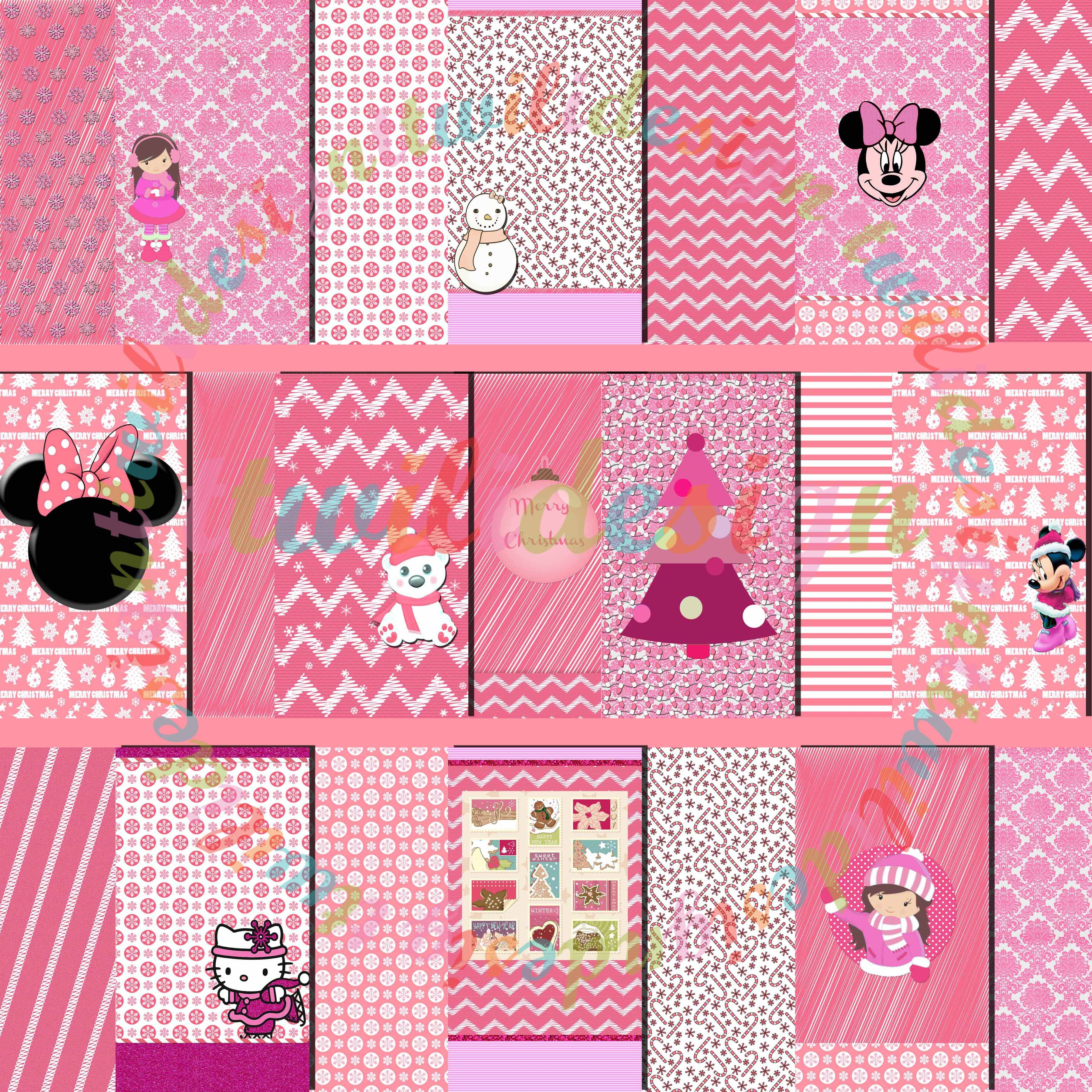 freebie!!! pink christmas wallpaper pack download wallpaper pack