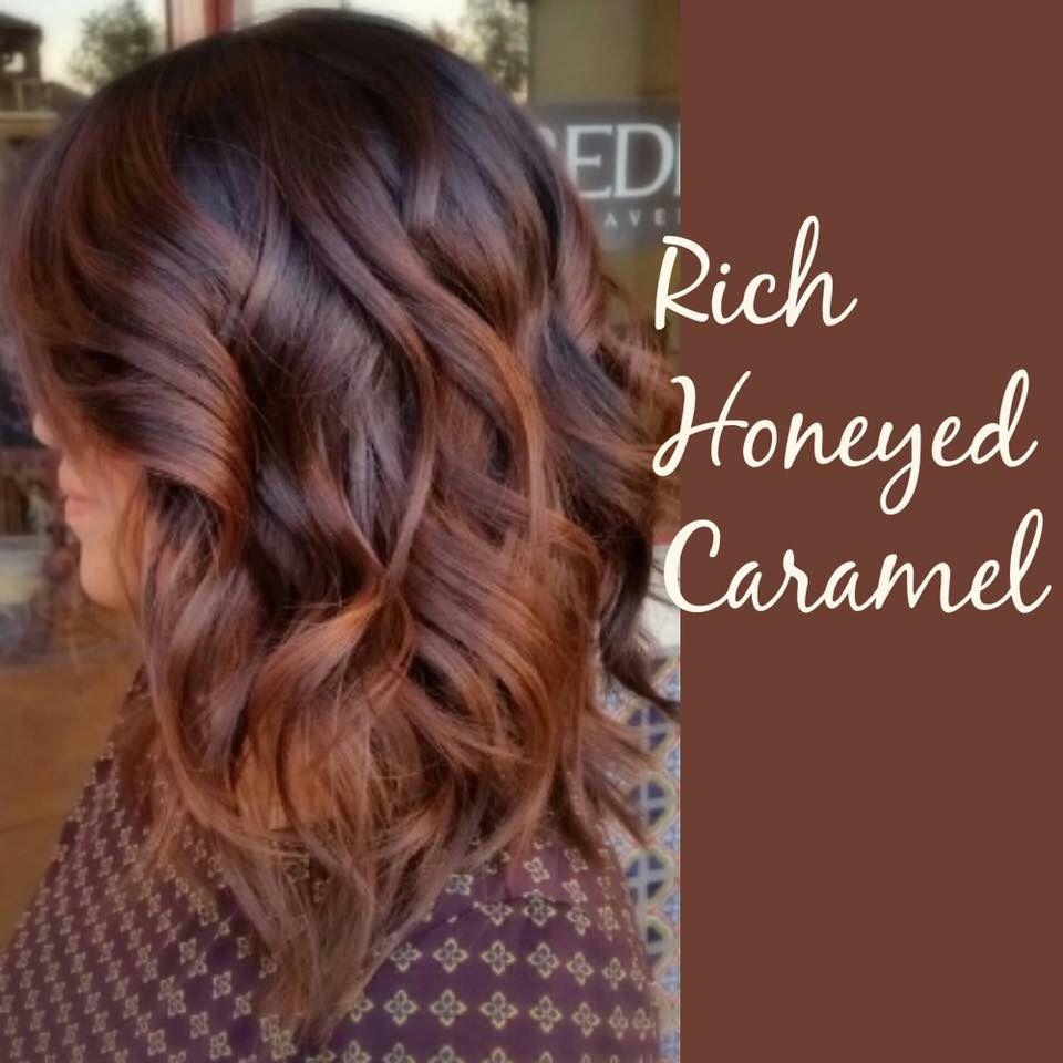 Rich Honeyed Caramel Hairstyles Balayage Hair Hair