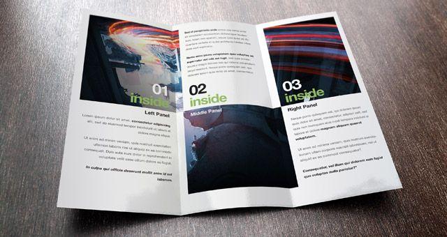 Folder Sided Letter Fold Folder Design Layout  Project