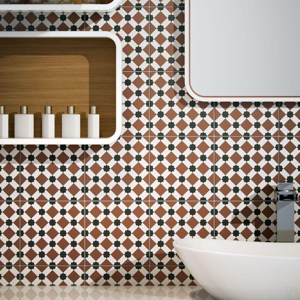 Peronda Tiledesign Brown Diamond Henley Tile Tile Design