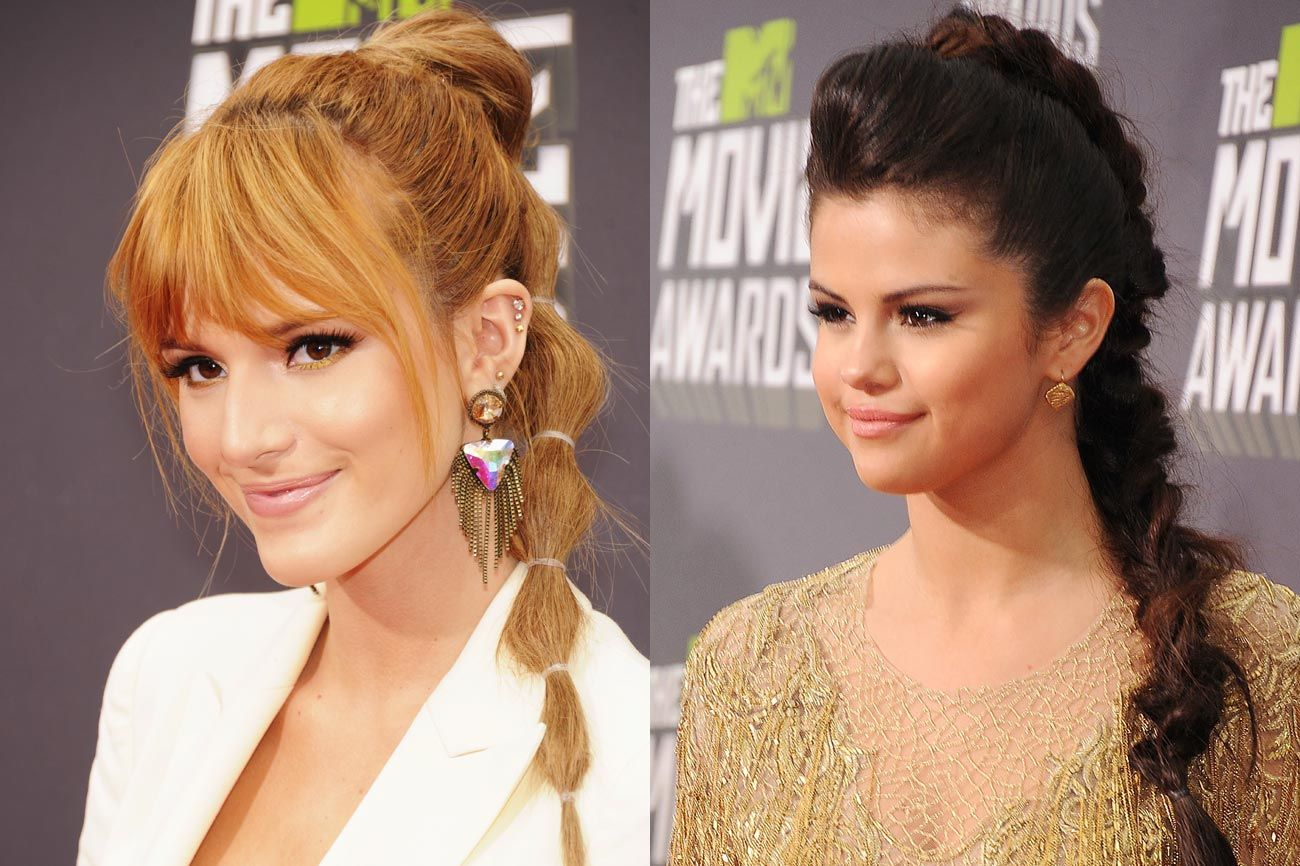 Zendaya Hairstyles Braids: Bella Thorne Vs. Selena Gomez: Whose Mega-High Hairstyle
