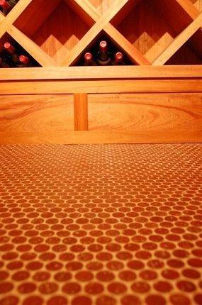 Great Idea For Wine Cellar Flooring Cork Mosaic Cork