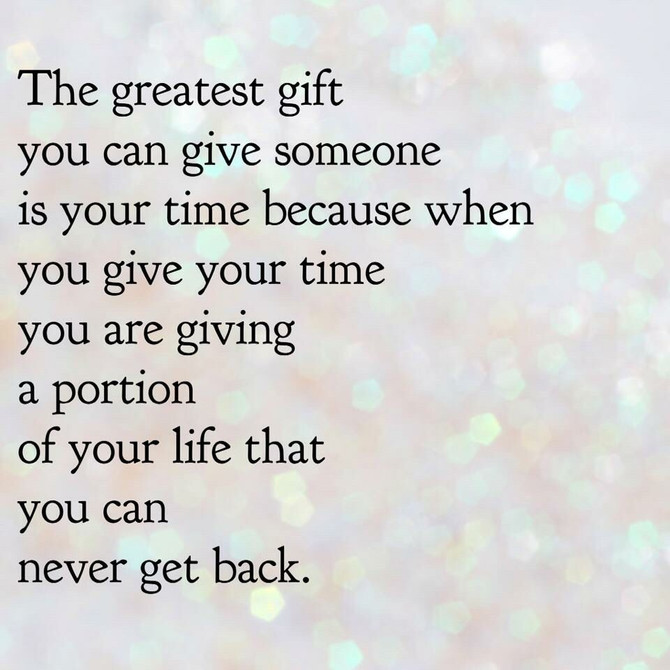 Give time