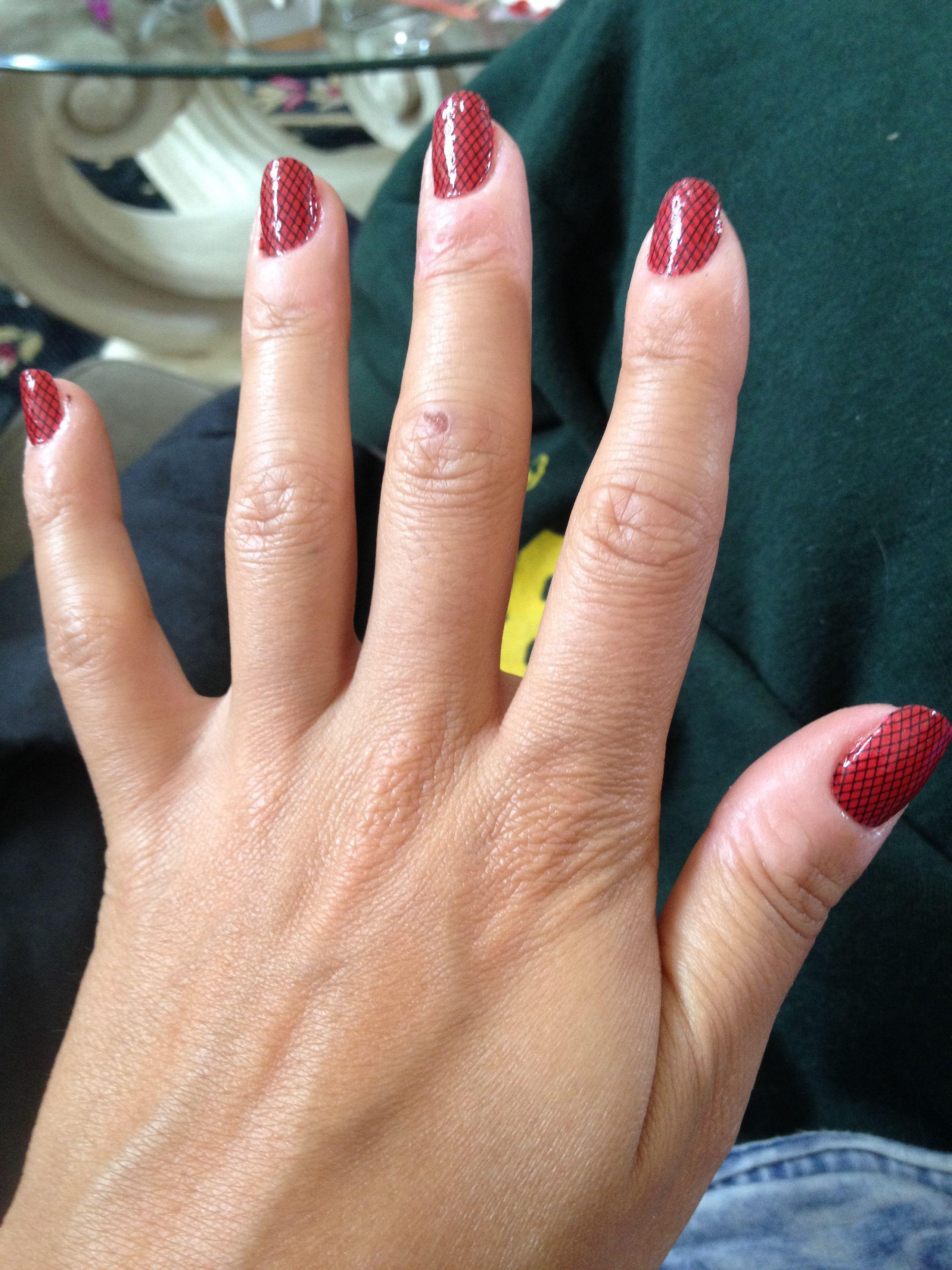 Fishnet nails. I got bored one day.