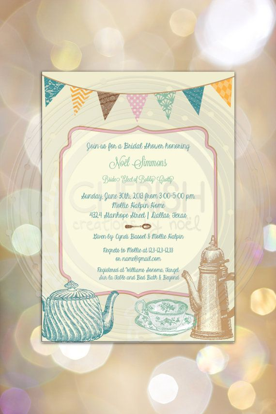 Tea Party - Bridal Shower Birthday - Wedding Couples Brunch Luncheon ...