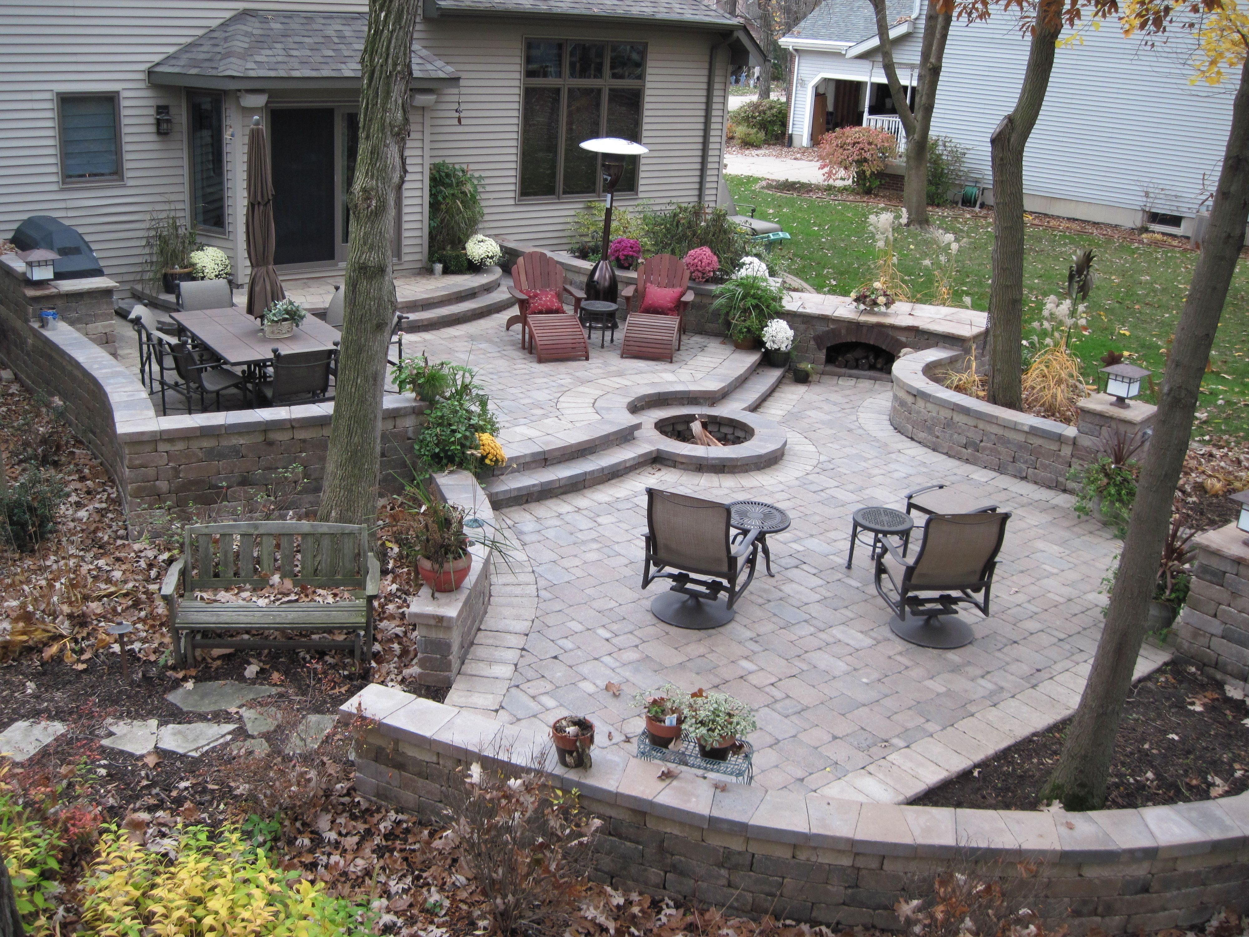 Unilock Patio | Patio, Paver patio, Backyard landscaping ... on Unilock Patio Ideas id=38564