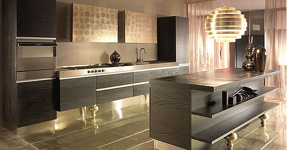 From Must Italia, This is a modern Italian kitchen. For some reason I like