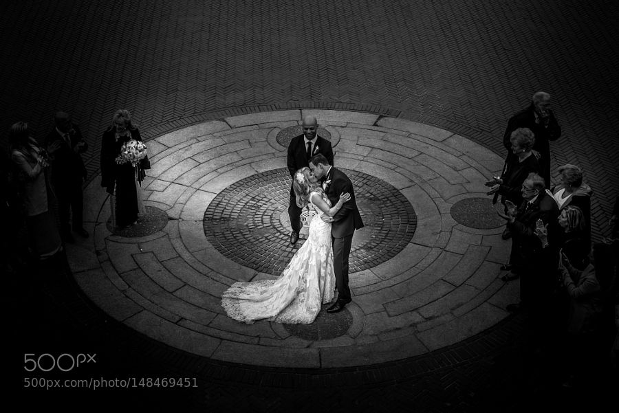 Wedding at Bethesda Terrace and Fountain in Central Park New York. by javanng1
