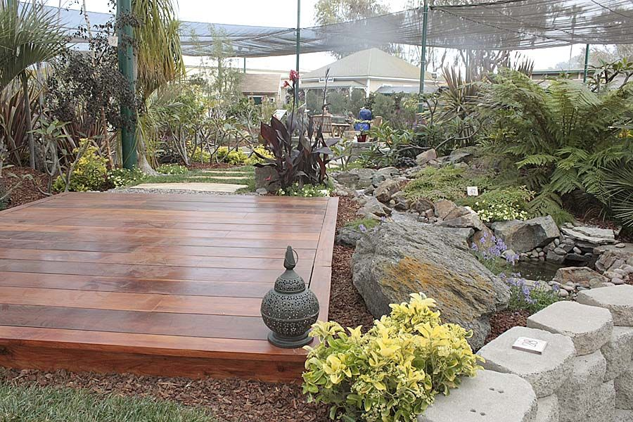 Yoga deck how hard would it be to build a low platform for How to make a decking platform