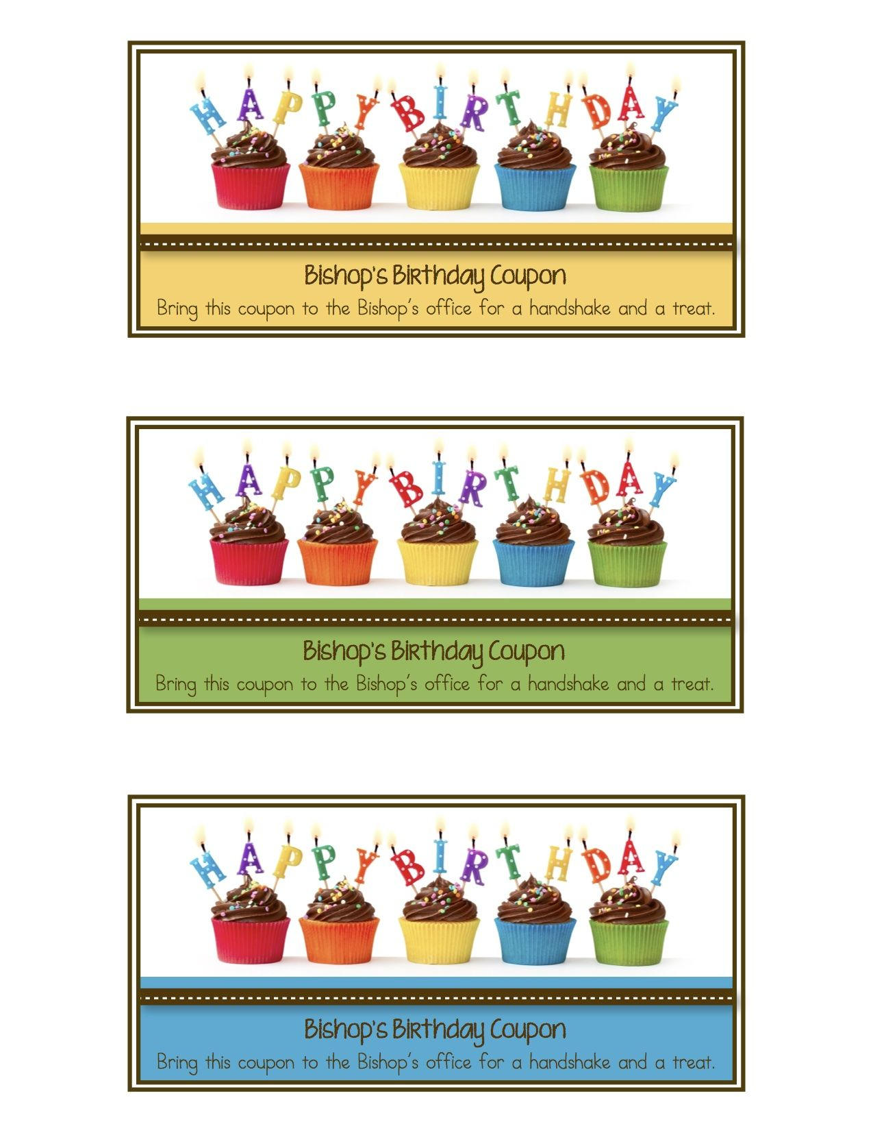 look what i made bishop s birthday coupons lds primary
