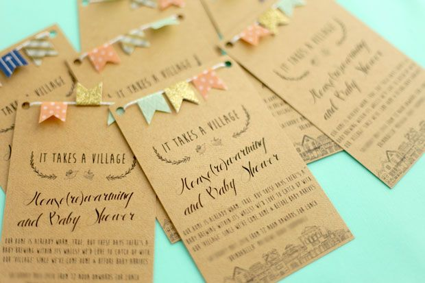 Bunting Baby Shower Invites She Sows Seeds Baby