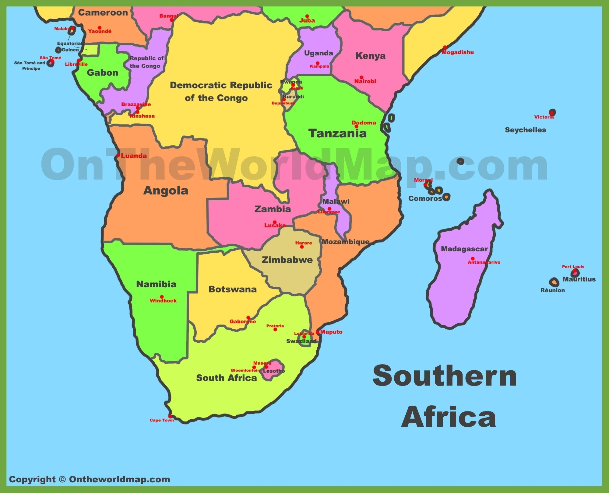 Map Of South Africa Country Map Of Guatemala Country Map Of Bora - African countries map