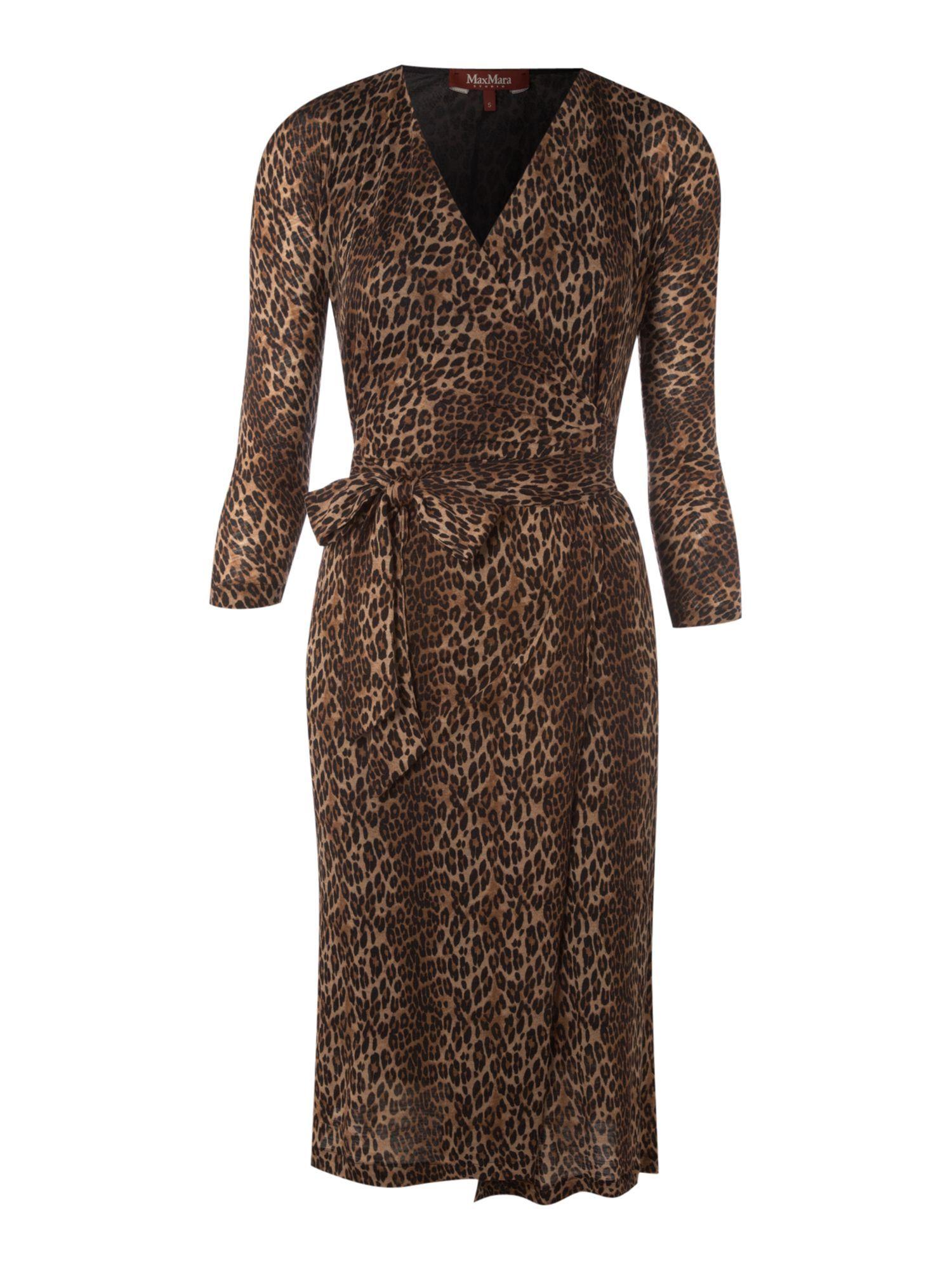 Jersey leo long sleeve wrap dress camel fashion pinterest