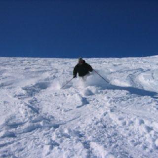 deep snow skiing