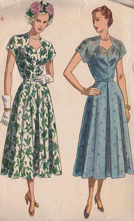 Simplicity 2493 1940 S Dress To Make 1940 S In 2019