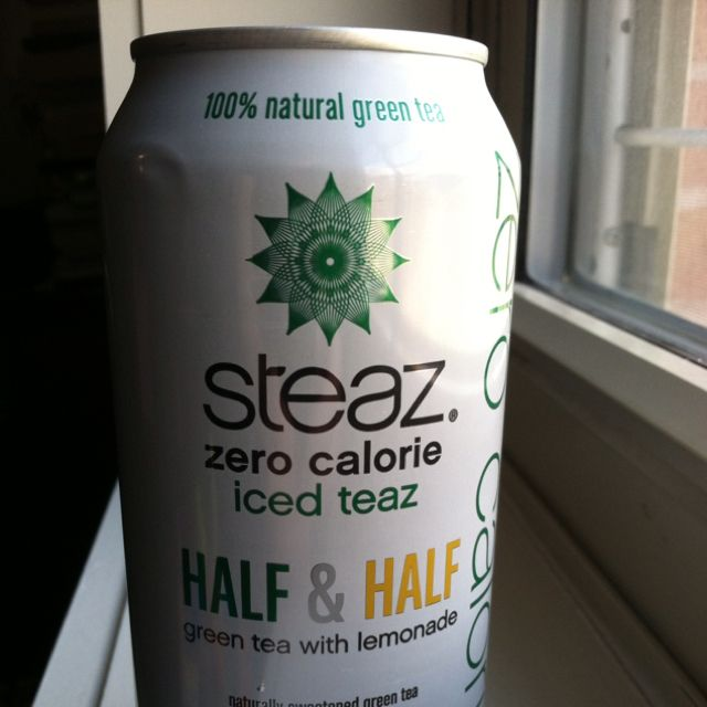 Steaz is a drink I found while traveling through Panama. I recently found them at Whole Foods and have been hooked ever since. This particular flavor is half and half it is 100% green tea and lemonade. This is probably my favorite zero calorie Steaz and it goes great with any meal!