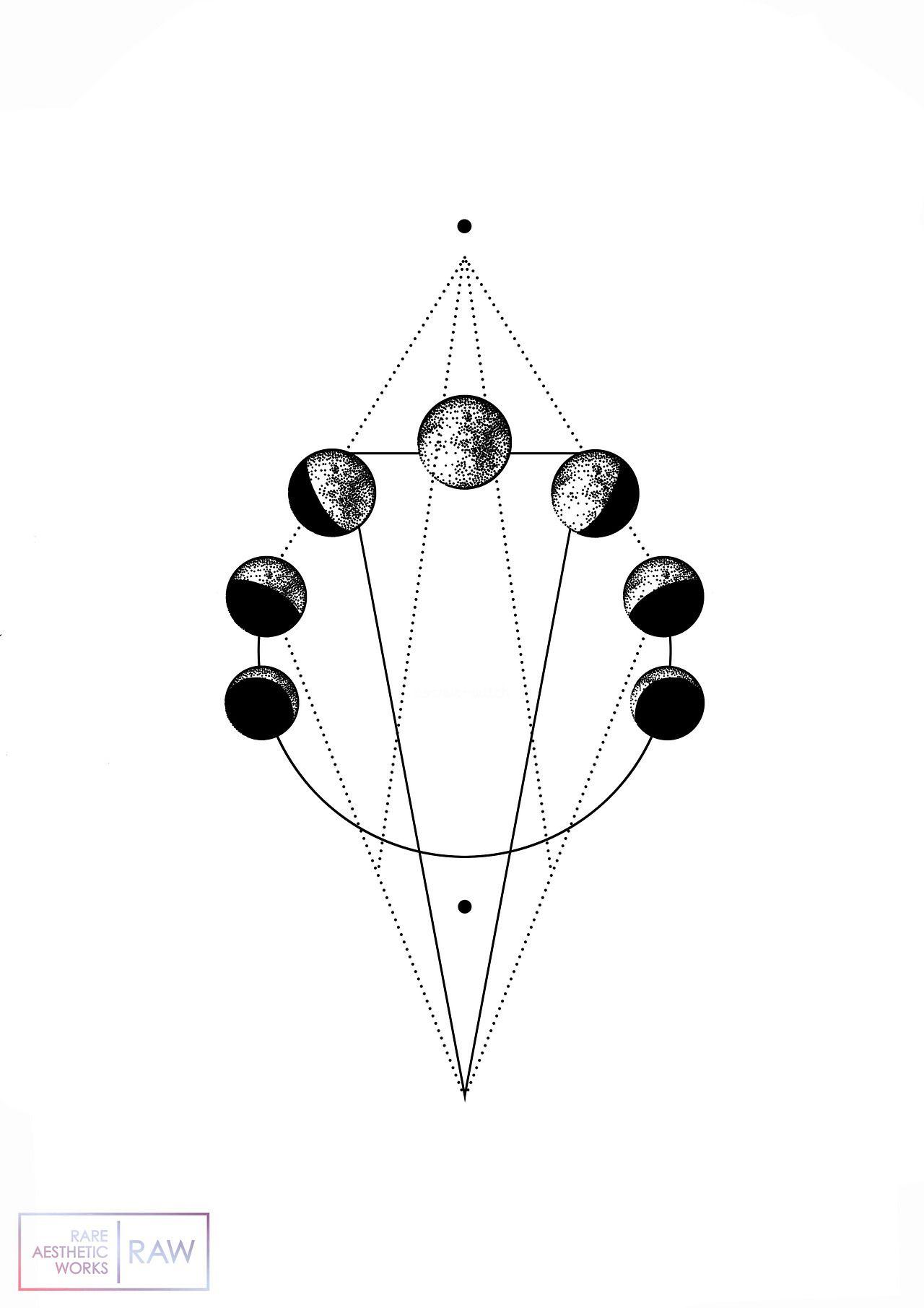 Lunar Phase Tattoo