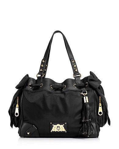 I want this black leather Juicy Couture bag for Christmas.