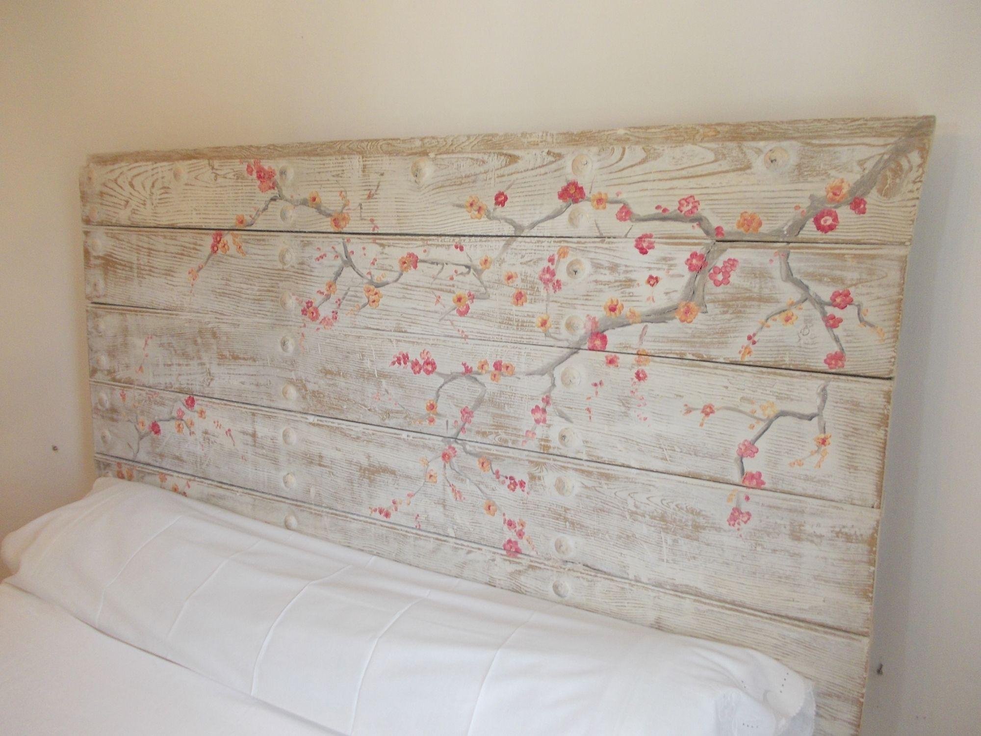Testata letto decorata stile shabbychic cabecero - Testata letto shabby ...