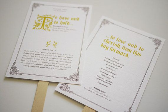Modern Vintage Fairytale Wedding Program By Threeeggsdesign 50 00