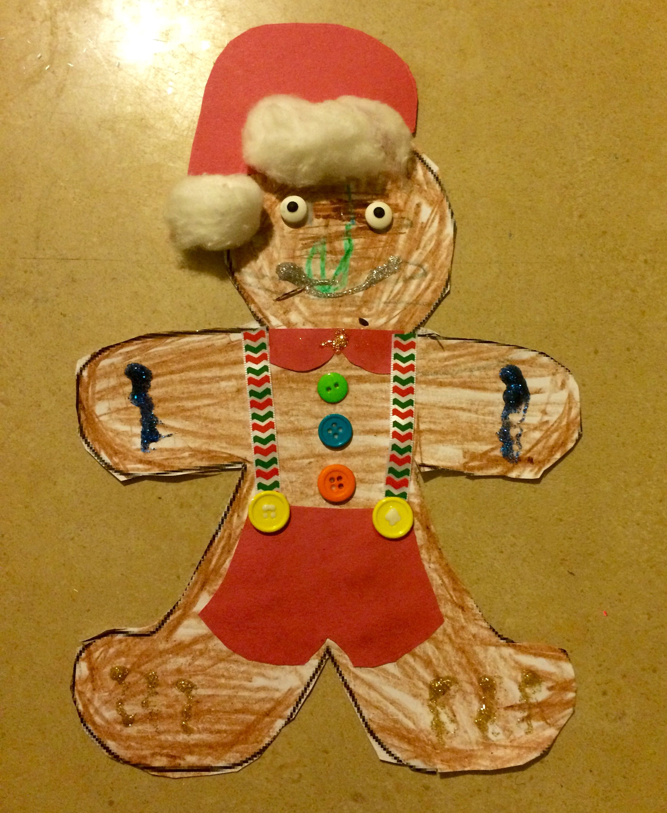 Decorate A Gingerbread Man On Paper Gingerbread Man Crafts