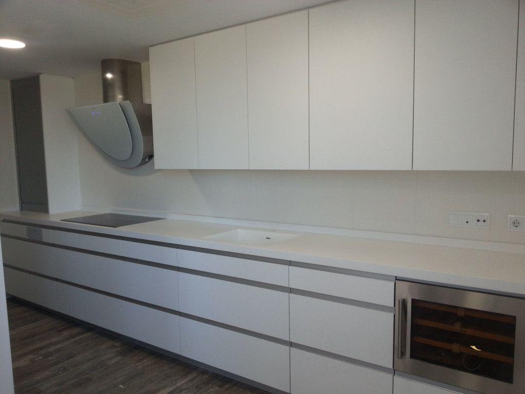 Cocina Blanca Con Campana Moderna Cocinas Blancas Modernas  # Budnik Muebles De Cocina