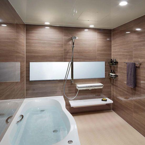 柔らかい肌触りとお掃除のしやすい人造大理石浴槽 Lixilリノビオv