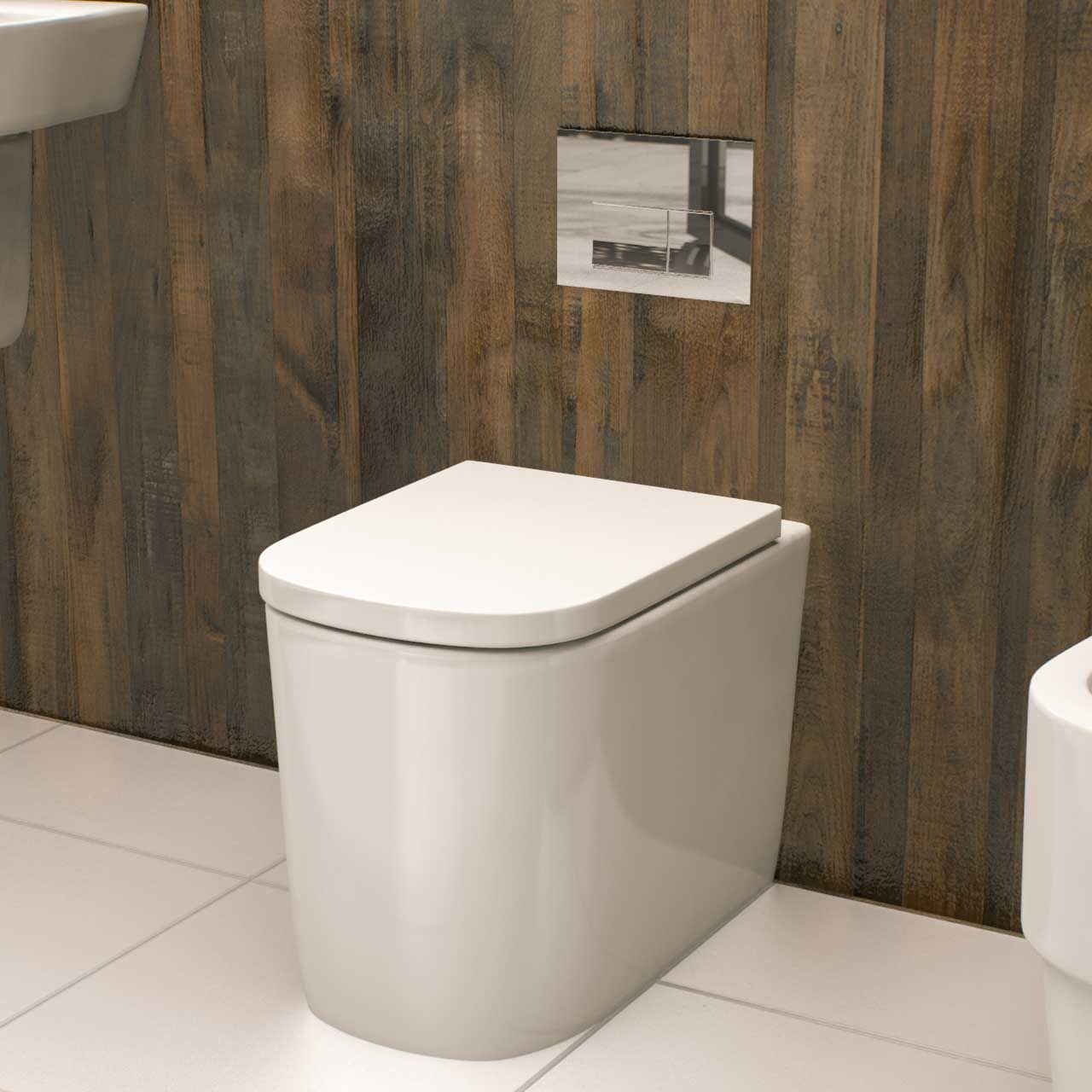 Galata Back To Wall Toilet With Soft Close Seat Back To Wall