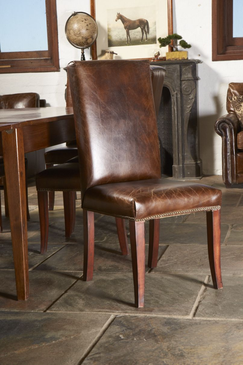 tan leather dining chairs melbourne walmart stadium chair classical savoy upholstered in premium top grain vintage cigar also available with natural oak legs sienna brown buy at