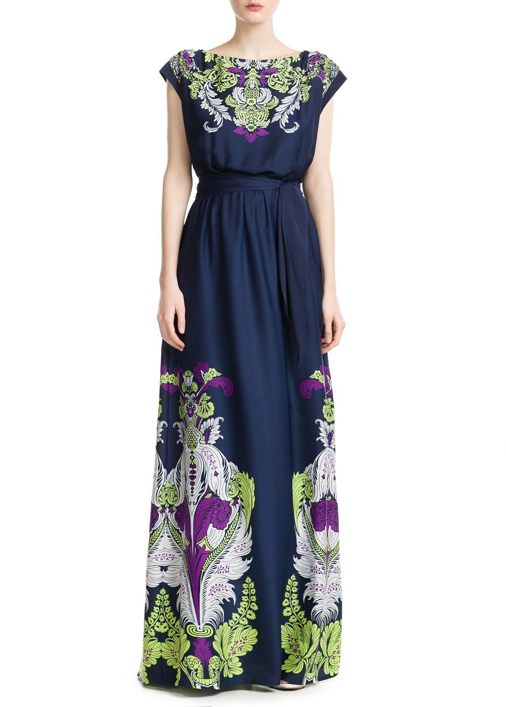 Kleid mit barockmuster - Damen | Dresses, Print dress ...