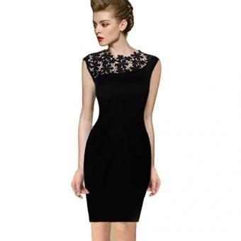 953808c14 Vestido Tipo Coctel para Mujer-Negro
