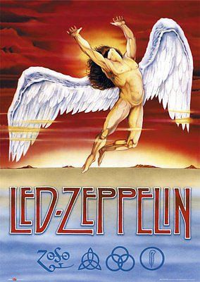 Led Zeppelin Swan Song Poster Print Wall Art Large Maxi