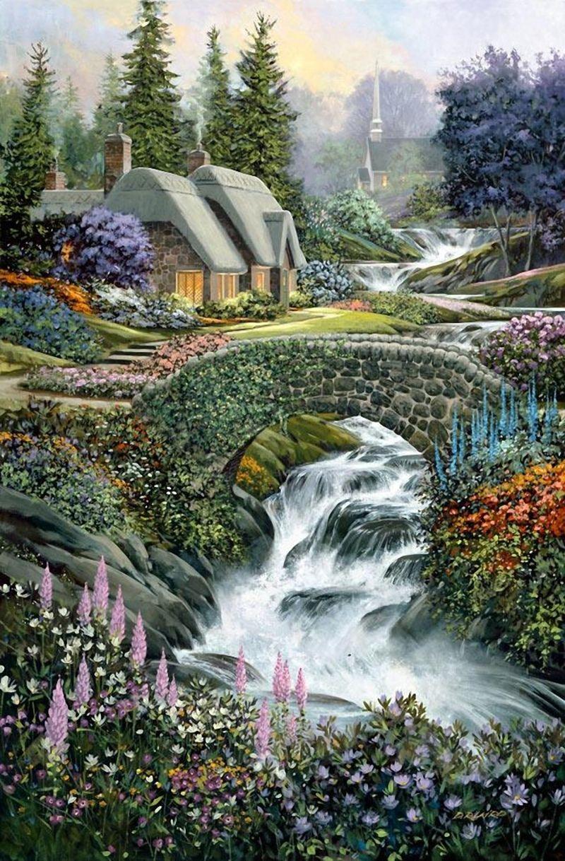 CHEZ MAMIETITINE - Page 24  Belle image nature, Coloriage paysage