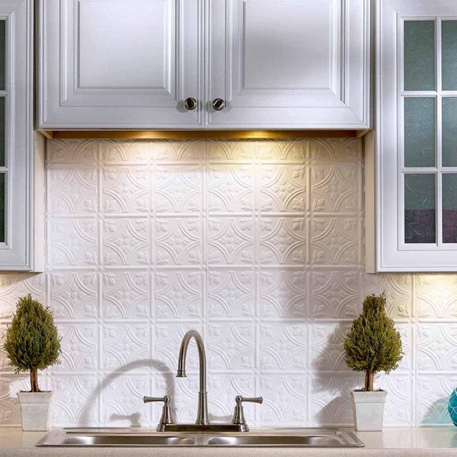 Fasade Backsplash Traditional 1 In Gloss White Backsplash