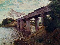 Il ponte della ferrovia ad Argenteuil, Claude Monet, 1873-74, Museo d'Orsay, Parigi, olio su tela