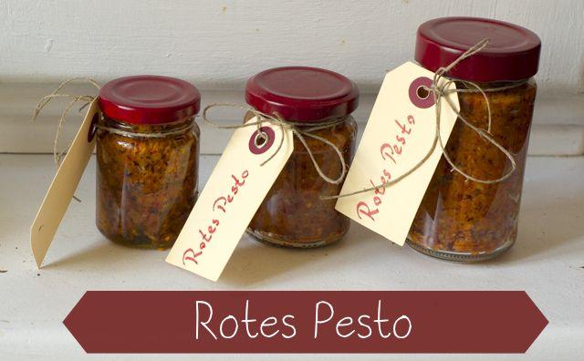 Lecker Und Selbst Gemacht Rotes Pesto Essen Getränke Diy