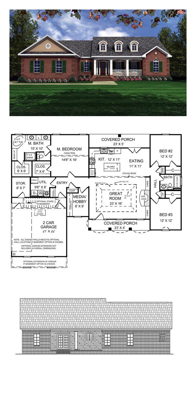 European house plan 59011 total living area 1751 sq ft for Europeanhome com