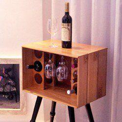 Ideia para reutilizar uma caixa de vinho