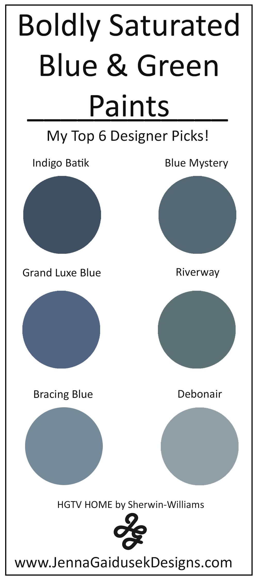 My Top 6 Bold Blue and Green Paint Colors- Best Accent Wall Paints images