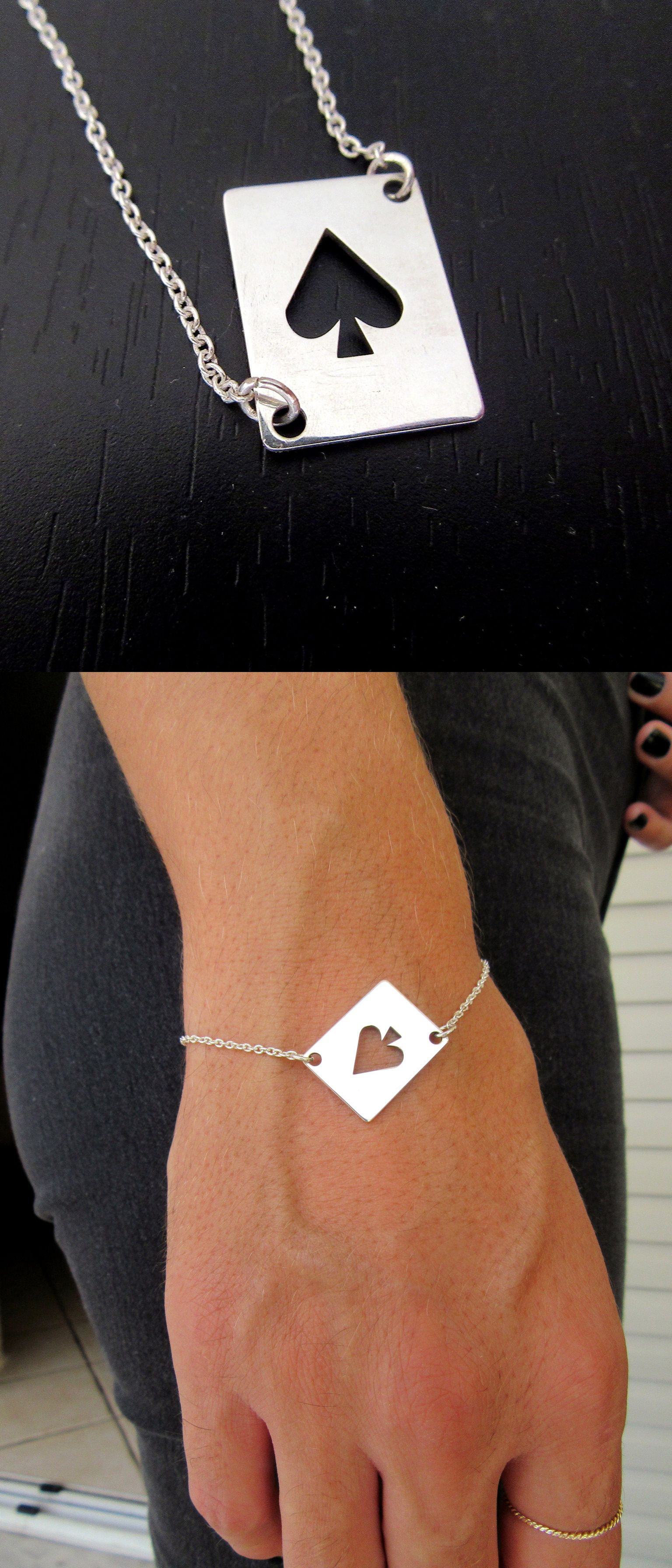 Bracelet Queen Of Spades Dom Ace Feminism Por Spade Jewelry Playing Card