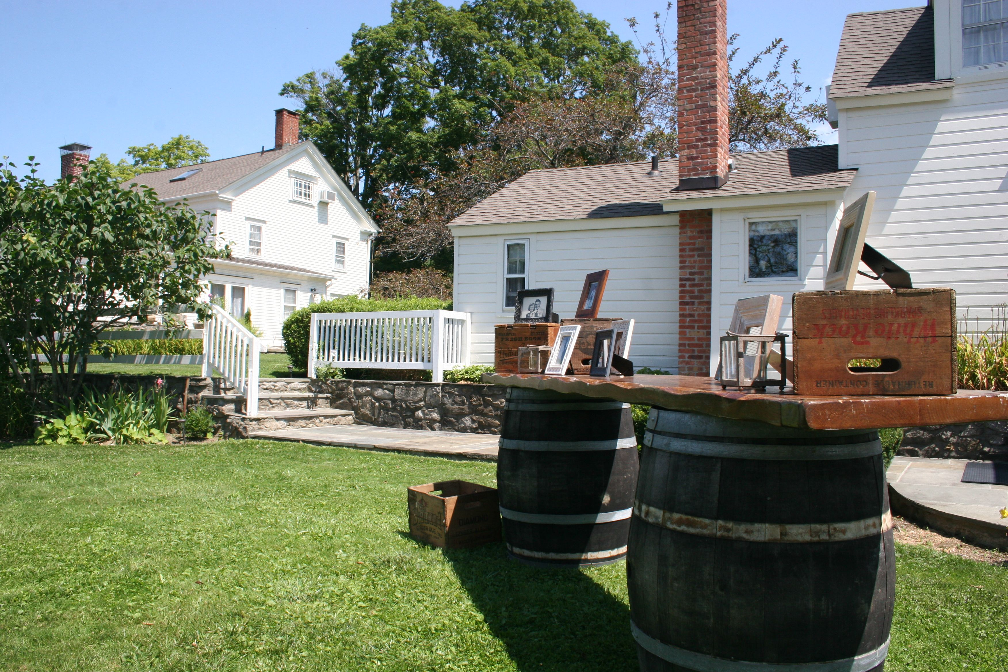 Wine Barrels for a New England Country Wedding