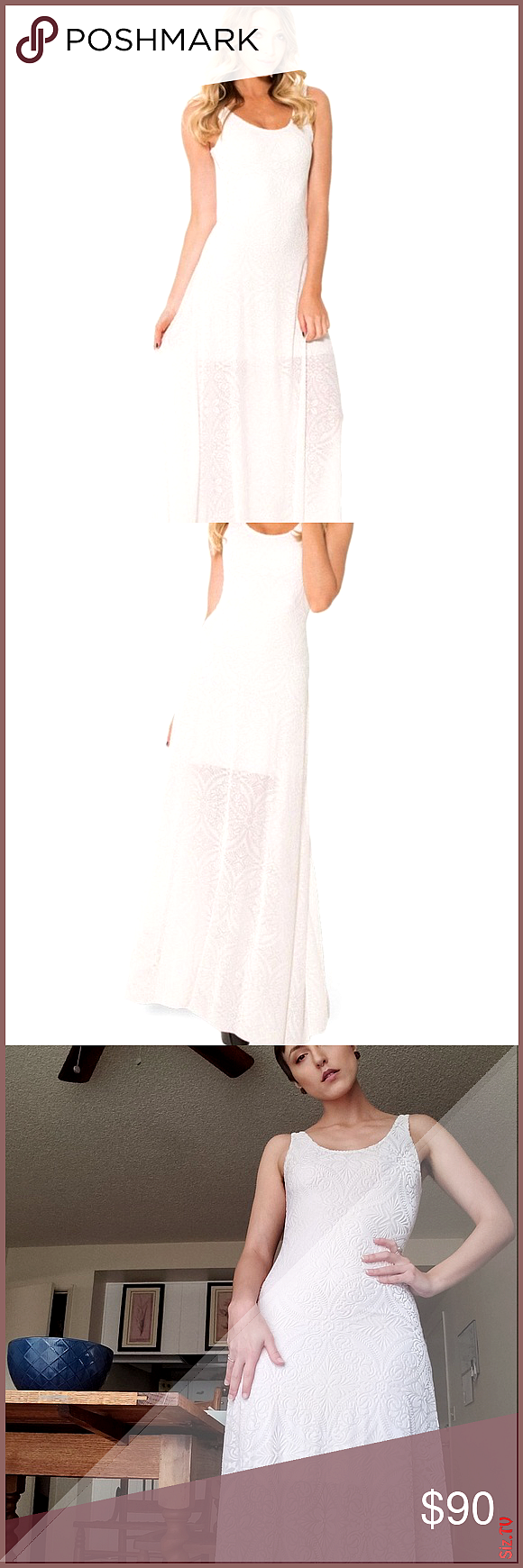 Blackmilk burned velvet maxi dress The SOLD OUT burned velvet white maxi dress from black milk Such...