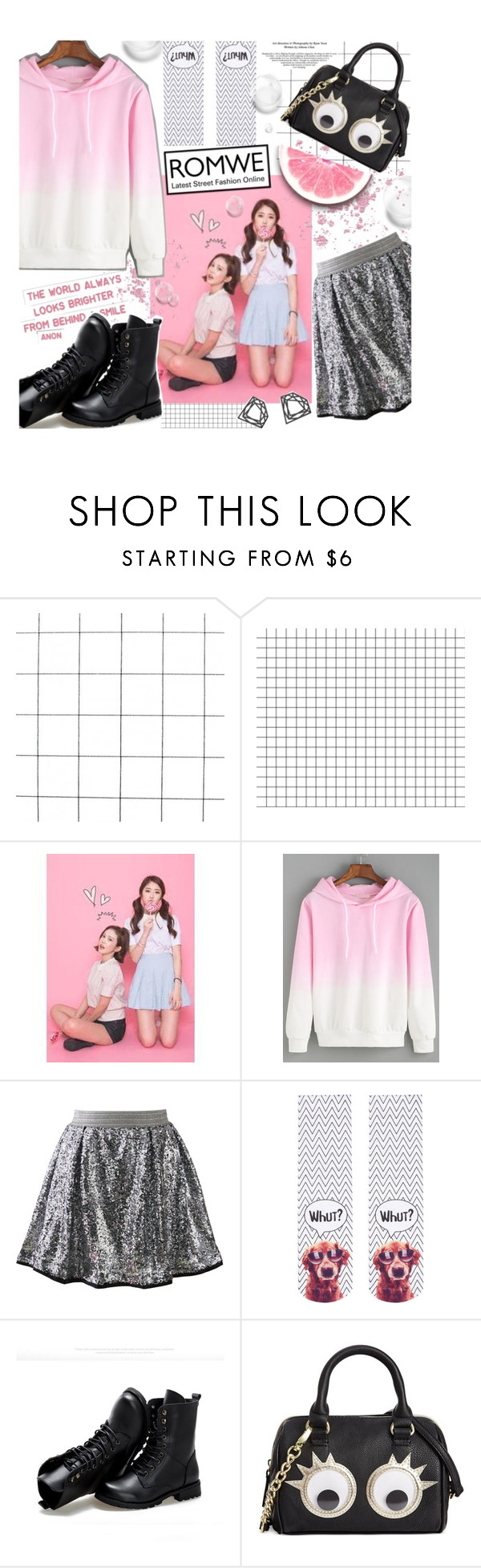 """Romwe Pink Sweatshirt"" by parkersam76 ❤ liked on Polyvore featuring Chicwish, Topshop, Sunsteps, Betsey Johnson, Myia Bonner, romwe, BetseyJohnson, polyvoreeditorial and yesstyle"